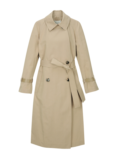 Cotton-Blend Double Breasted Trench Coat