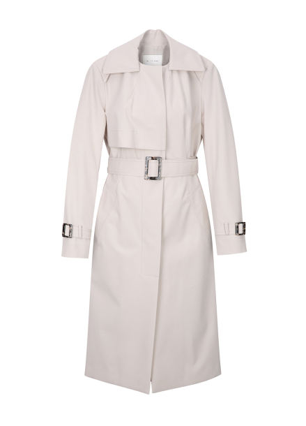 Ring Point Detail Trench Coat