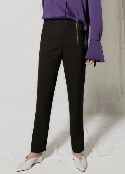 [CLUE DE CLARE/18SS 5%+5% 쿠폰] Side zipper pants Black