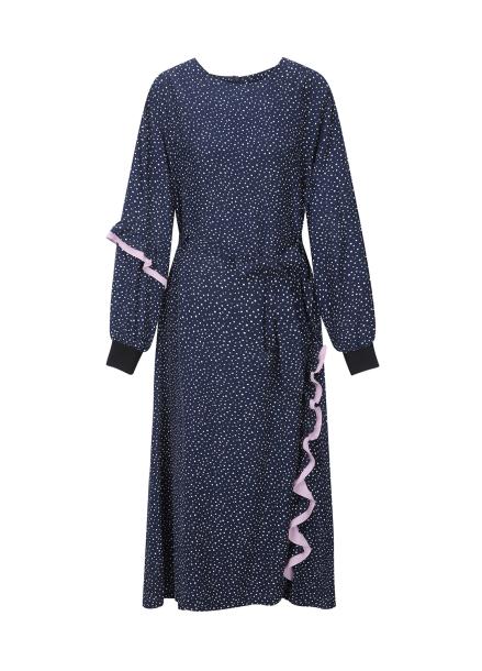[30%] Dot Frill Detail Dress