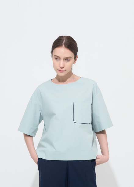 [15%단독할인/NOCOCHIC] POCKET BLOCK BLOUSE_MT