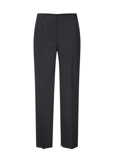 Black Simple Line Slacks Pants