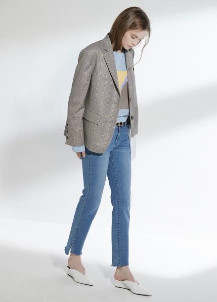 [CLUE DE CLARE/18SS 5%+5% 쿠폰] reworked pocket jeans Blue