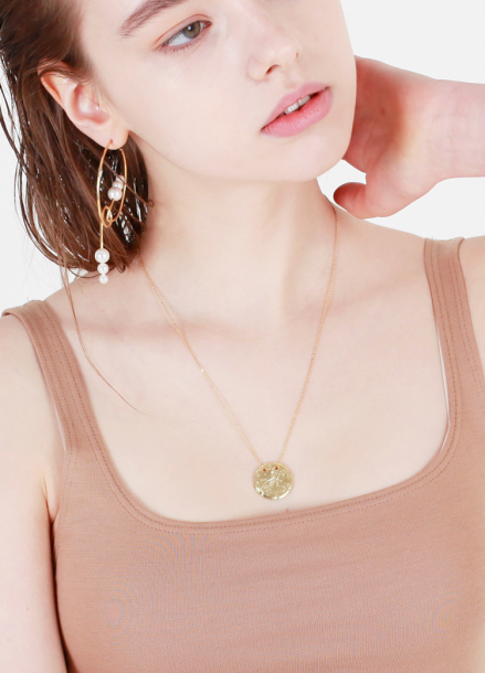 [10%할인/DE LA LUNE] Coin Necklace[DL18SSNC08MTF]