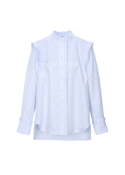 Pleats Cotton Blouse