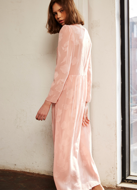[10%+5%/Sorry,Too Much Love] see-through lace long dress_pink
