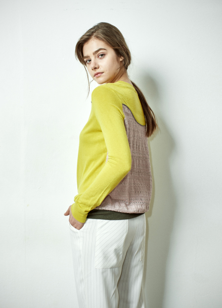 [The Kstory] Lace Color effects Cardigan