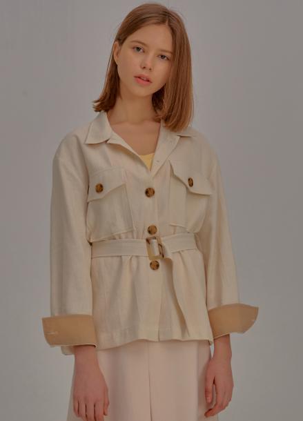 [신상5%할인+추가5%/ADDSENSE] Square Pocket Jacket_Ivory