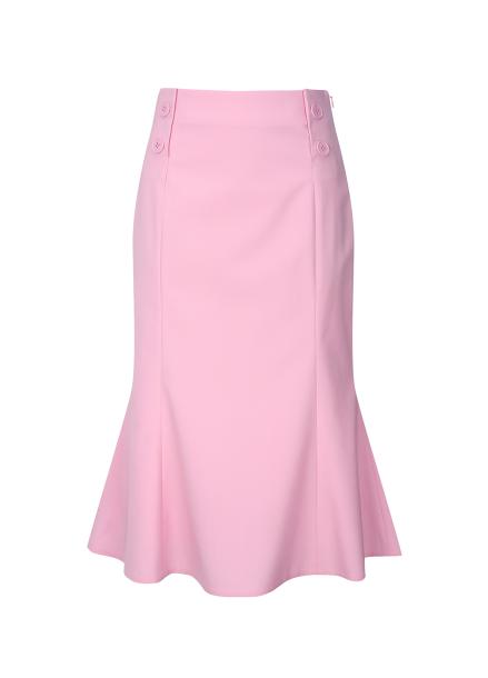 Trumpet  Button Skirt