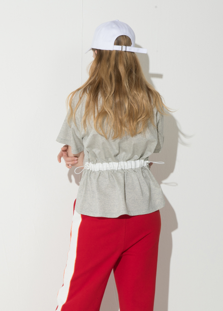 [시즌오프 10%할인/ATICLE] String Point T-Shirt (Melange Gray)