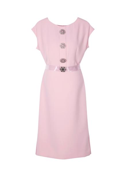 Flower Button Point Dress