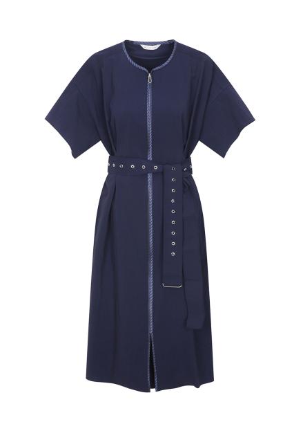 Zipper Belt Dress
