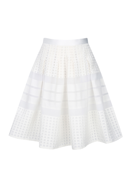 Lace Short Flare Skirt