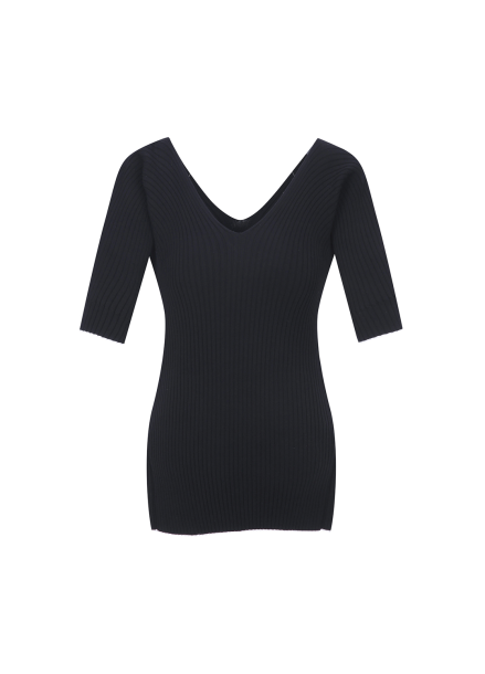 V Neck Slim Fit Pullover