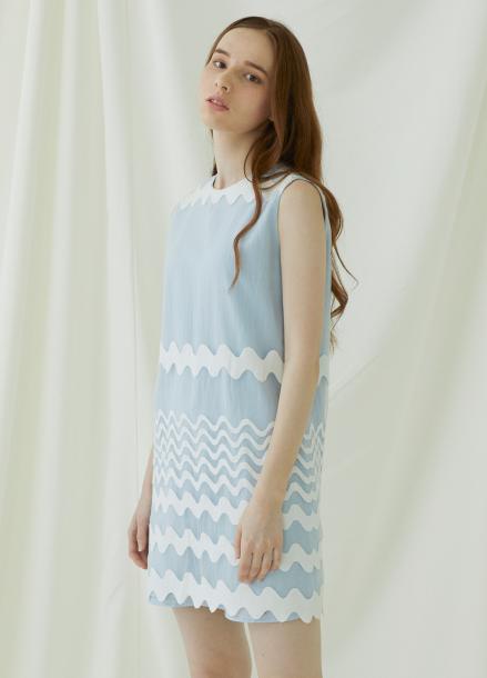 [★시즌오프40%할인/Millogrem]Waven Dress - Blue