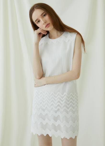 [★시즌오프40%할인/Millogrem]Waven Dress - White