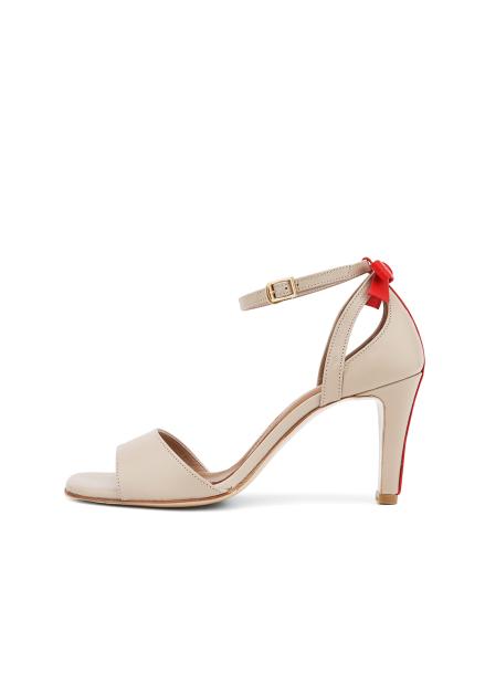 Ribbon Ankle Strap Heel