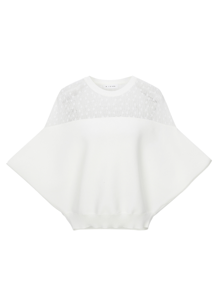 Shoulder See-Through Pullover