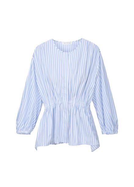 Banding Stripe Cotton Blouse