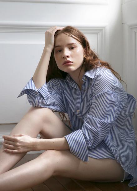 [5월 24일 예약배송][5%할인+5%쿠폰/SALON DE YOHN]Stripe Cotton Shirt