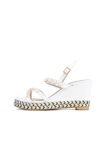Pearl Strap Wedge Heel