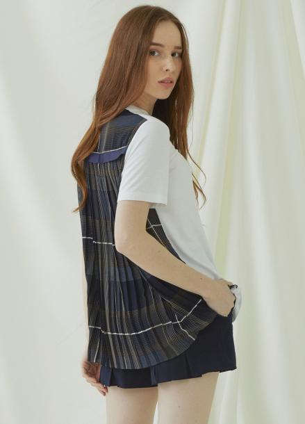 [★시즌오프40%할인/Millogrem] Back Pleats T-shirts - ivory