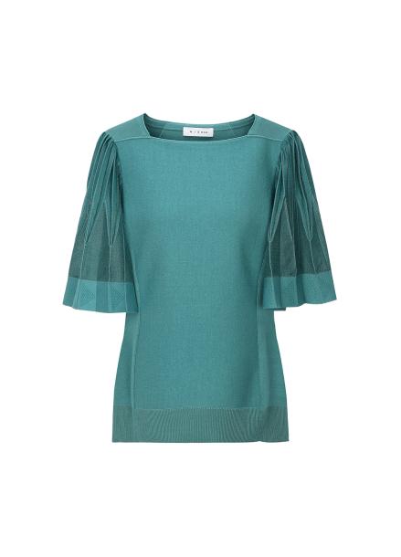 Pleats Sleeve Pullover