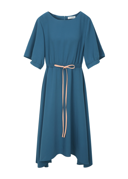 String Flare Unbalance Dress