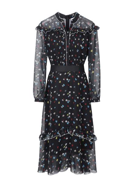 Pattern Point Lace Dress