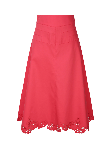 Punching Edge Lace Skirt