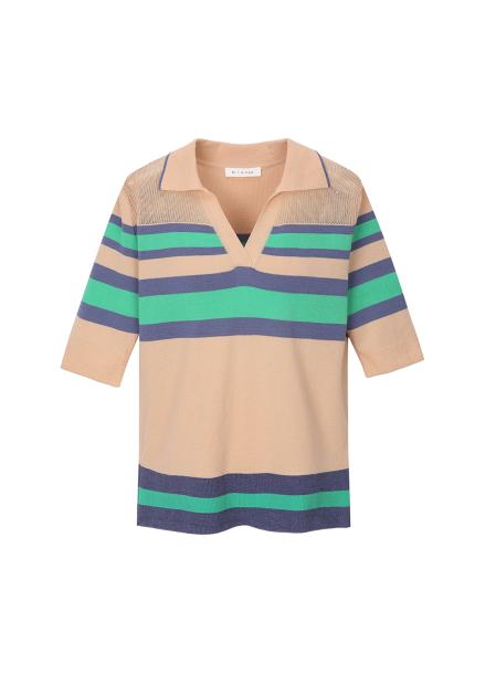 Stripe Pique Shirts Pullover