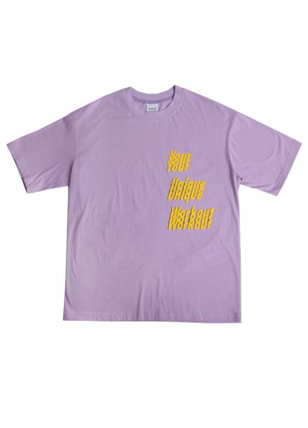 [★시즌오프30%할인/ATICLE]YOUR UNIQUE WORKOUT GRAPHIC T-SHIRT (Lilac)