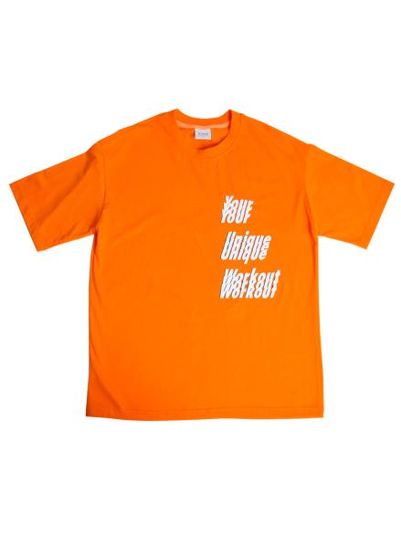 [★시즌오프30%할인/ATICLE]YOUR UNIQUE WORKOUT GRAPHIC T-SHIRT (Orange)