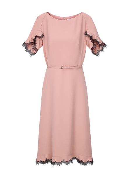 Raglan Sleeve Flare Dress