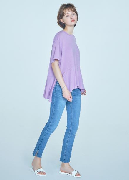 [CLUE DE CLARE] flare T-shirt Purple
