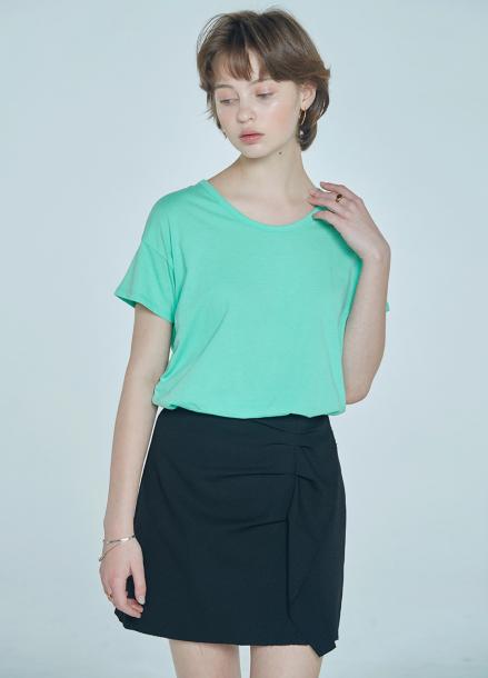 [단독★20%할인/CLUE DE CLARE] ruffle detail skirt Black