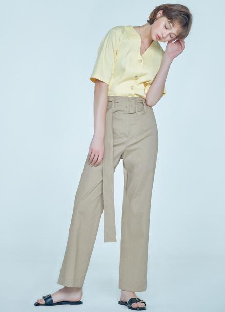 [단독★20%할인/CLUE DE CLARE] high waist wide pants Beige