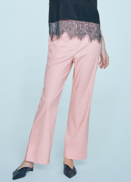 [단독★20%할인/CLUE DE CLARE] high waist wide pants Pink