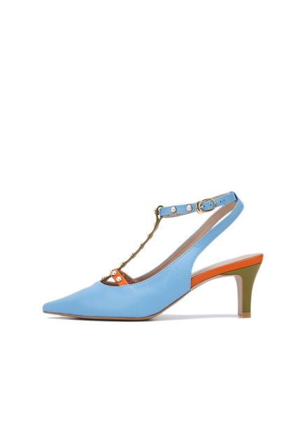 Pearl Strap Heel