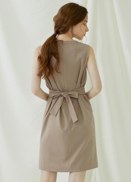 [★시즌오프40%할인/Millogrem] Wrap Wool Onepiece - pink