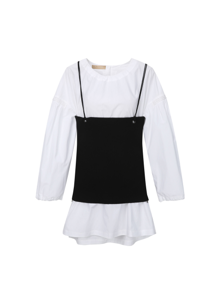 Bustier Layered Long Sleeve T-Shirts