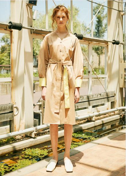 [5%할인+5%쿠폰/THE STUDIO K] V NECK SHIRT DRESS