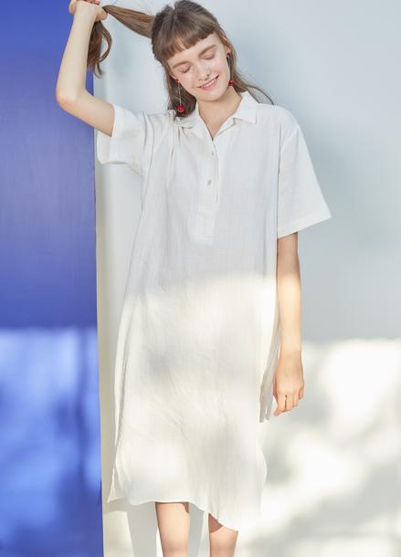[단독★25%할인/ANEDIT] J POLO COLLAR DRESS_WH