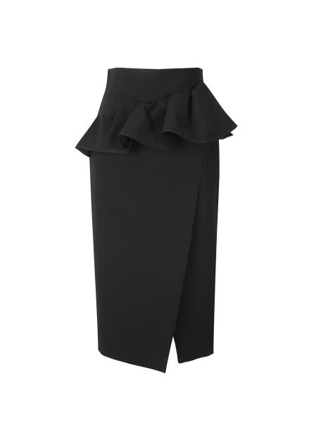Yoke Peplum Lap Skirt