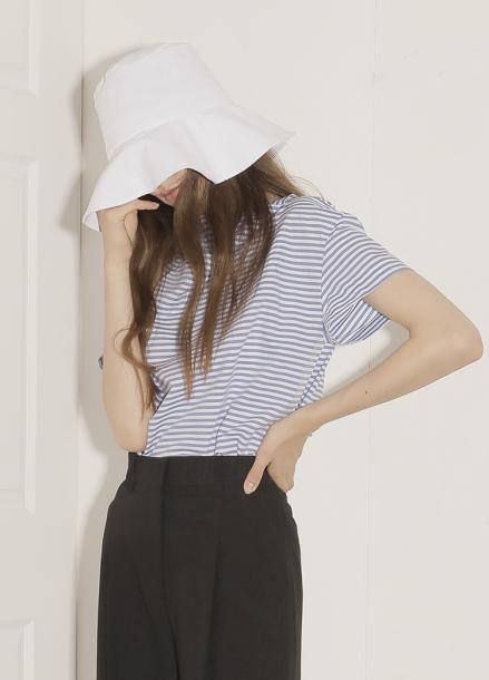 [20%할인/PAUL&ALICE]18SS LINEN BUCKET HAT_WH