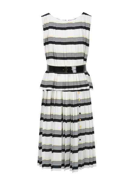 Mix Stripe Sleeveless Dress