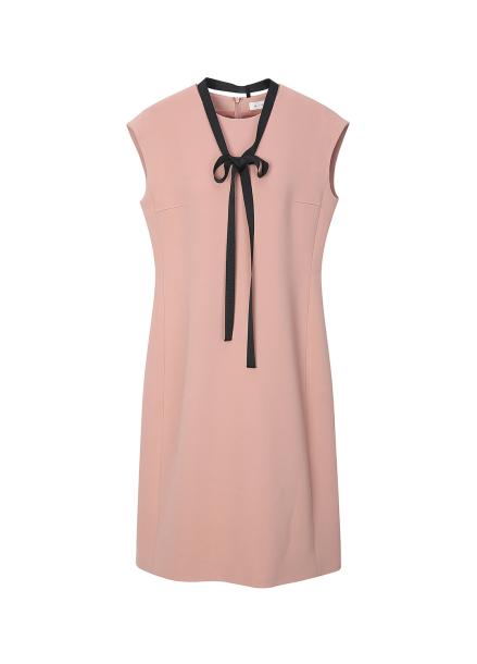 Tie Sleeveless Midi Dress