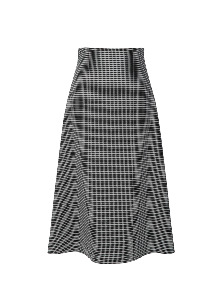 Checked A-Line Midi Skirts