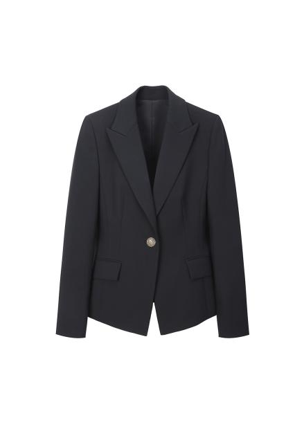 Slim Collar Coloration Jacket