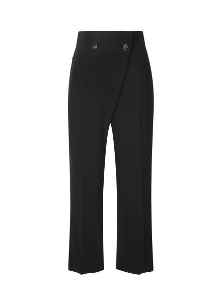 Button Design Wrap Pants